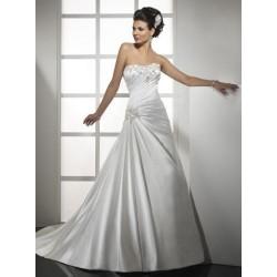 luxusní svatební šaty saténové Alison M-L