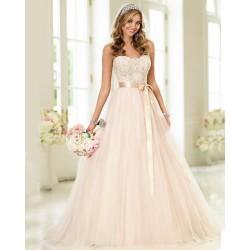 krémové svatební šaty Donna s bohatou sukní S-M