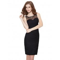 krátké černé společenské šaty na ramínka XS