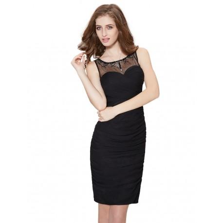 krátké černé společenské šaty na ramínka XS - Hollywood Style E-Shop ... 8e76862296