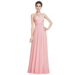 dlouhé světle růžové plesové šaty Kathleen M