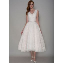 krátké retro 50's svatební šaty na ramínka Frances S-M