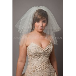 krátký svatební závoj dvouvrstvý - výběr barev