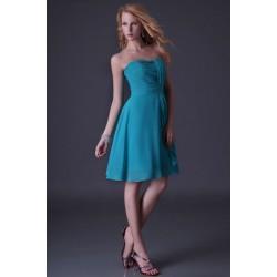 krátké modré společenské šaty na svatbu L-XL