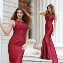 dlouhé společenské šaty vínové Susan L