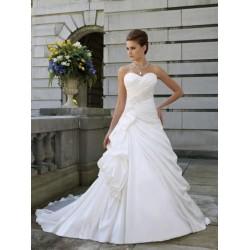 bílé svatební šaty Tina se sníženým pasem M-L