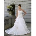 krémové svatební šaty Tina se sníženým pasem M-L