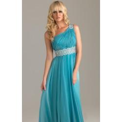 dlouhé modré plesové společenské šaty Triss M-XL