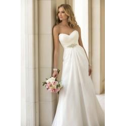 antické svatební šaty jednoduché krémové Triss 3XL-4XL