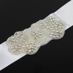 štrasový svatební pásek, štrasová ozdoba na svatební šaty