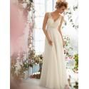 luxusní bílé antické svatební šaty na ramínka Delisse  L-XL