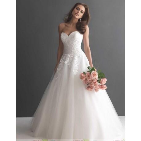bílé princeznovské svatební šaty s krajkou Princess XS-S