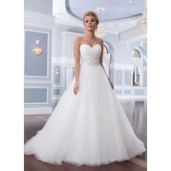 klasické bílé svatební šaty Lorna XS-S