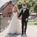 bílé princeznovské tylové svatební šaty na ramínka Luisa M