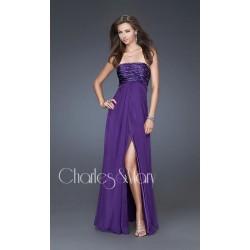 maturitní šaty Dita 8 fialové