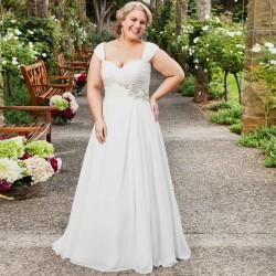 antické svatební šaty na ramínka Denise XL-XXL