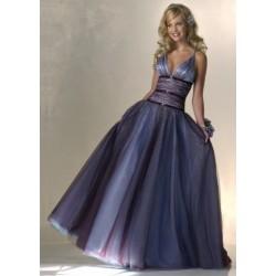 společenské modré šaty Dita 3 multicolor