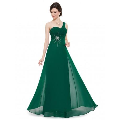 dlouhé zelené společenské šaty na jedno rameno Elizé XL - Hollywood Style  E-Shop - plesové a svatební šaty dc5fa93c41