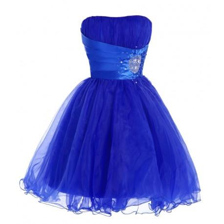 krátké modré společenské šaty do tanečních Victoria XS-S