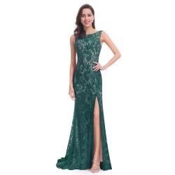 zelené krajkované dlouhé společenské šaty Wendy S