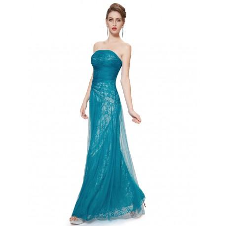 Tyrkysové krajkové společenské šaty na ples - krásné krajkové šaty 81105efe898