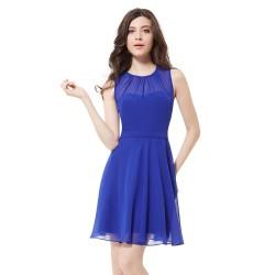 krátké modré společenské šaty na ramínka Chelsea L