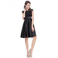 krátké černé společenské šaty na ramínka Joan L