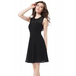 krátké černé společenské šaty na ramínka Chelsea XXL