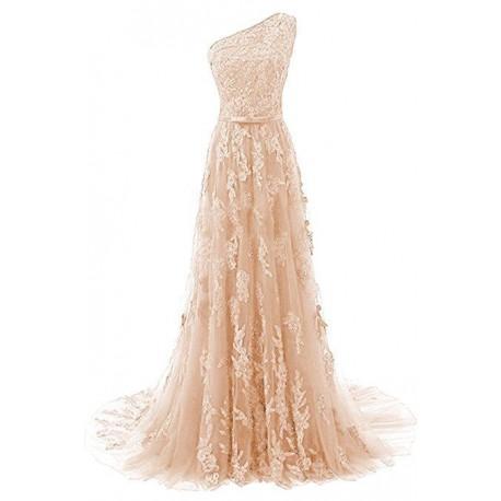 c0fa00324240 krémové champagne krajkové plesové šaty Linda XS-S - Hollywood Style ...