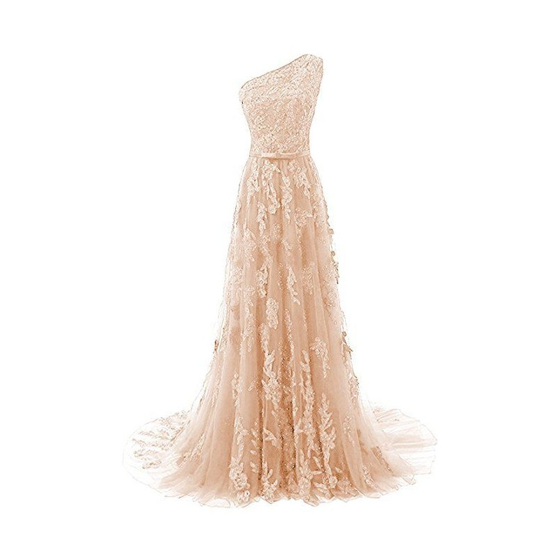 krémové champagne krajkové plesové šaty Linda XS-S - Hollywood Style ... 85180f7b32