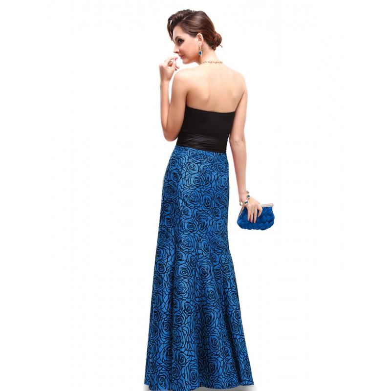 ... dlouhé modro-černé společenské šaty na ples Karin XS ... 944aba70d5