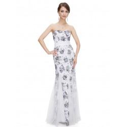 dlouhé černo-bílé plesové šaty mořská panna Anita S