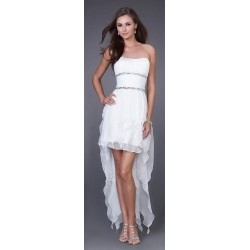 šaty do tanečních - bílé