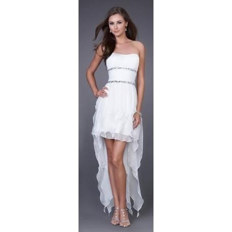 Módní společenské šaty - bílé