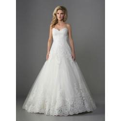 luxusní bílé svatební šaty s krajkou Geraldine XS-S