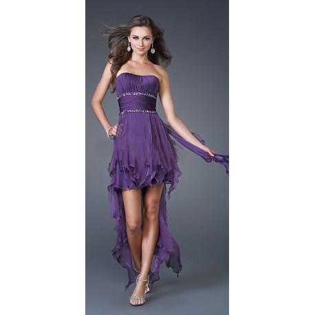 Módní společenské šaty - fialové