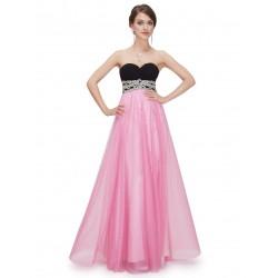 dlouhé růžové tylové maturitní plesové šaty Violet L