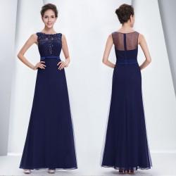 tmavě modré dlouhé společenské šaty pro matku nevěsty Meridit M