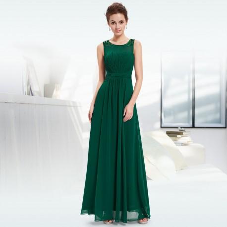 dlouhé zelené plesové šaty na ramínka Isabela XL