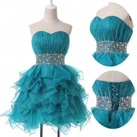 aa07db2ba1b krátké zelené společenské šaty do tanečních Andy S-M - Hollywood ...