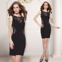 krátké černé společenské šaty pouzdrové Jana M