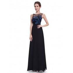 dlouhé černé společenské šaty Anike XXL