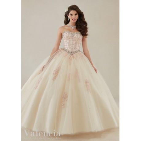 plesové nebo svatební champagne šaty na maturitní ples Luisiana XS-S