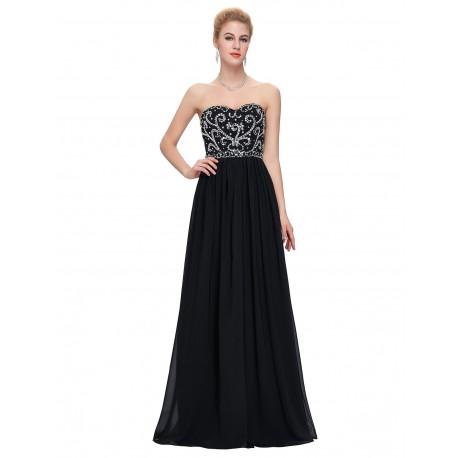 dlouhé černé plesové společenské šaty Miriam M-L