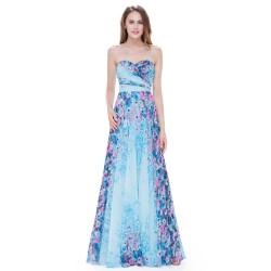 60a3ead280f dlouhé květované společenské šaty Mandra XS-S