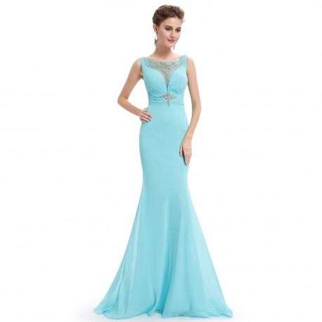 947fd3afc sexy dlouhé tyrkysové plesové šaty Kiki XS