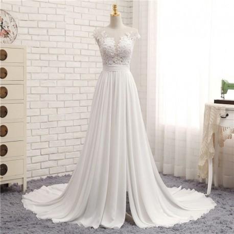 sexy šifónové antické boho svatební šaty Florence XS