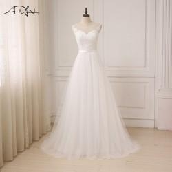 bilé svatební šaty na ramínka Claudia M