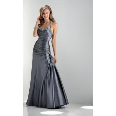 Plesové stříbrné šaty na míru