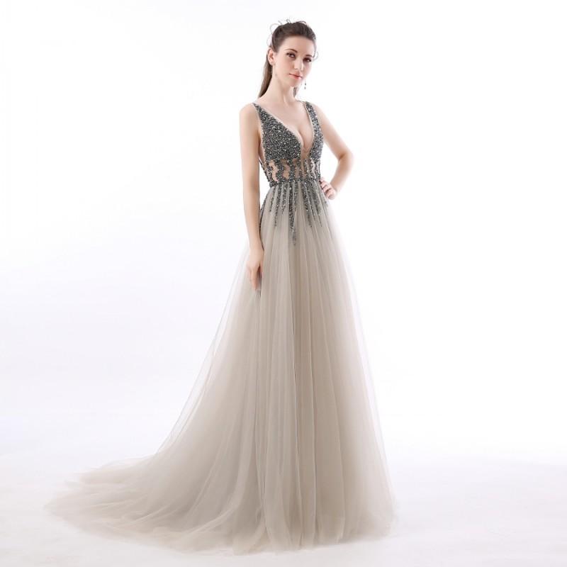 d07976123a9a luxusní sexy tylové plesové šaty s rozparkem Alicia XS ...